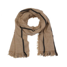 Fashion faux cashmere winter women acrylic houndstooth scarves pashmina