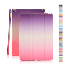 Shockproof protective stand Seventy percent off tablet case, Rainbow Pattern smart back PC+ PU cover for ipad mini 4 case