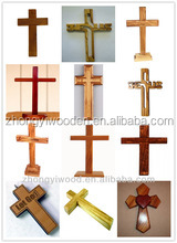 2016 year china factory FSC custom standing birch wooden gift cross