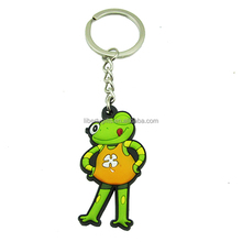 cute animal frog rubber key chain