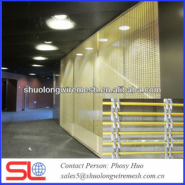Exterior cable mesh cladding,decorative metal mesh curtain