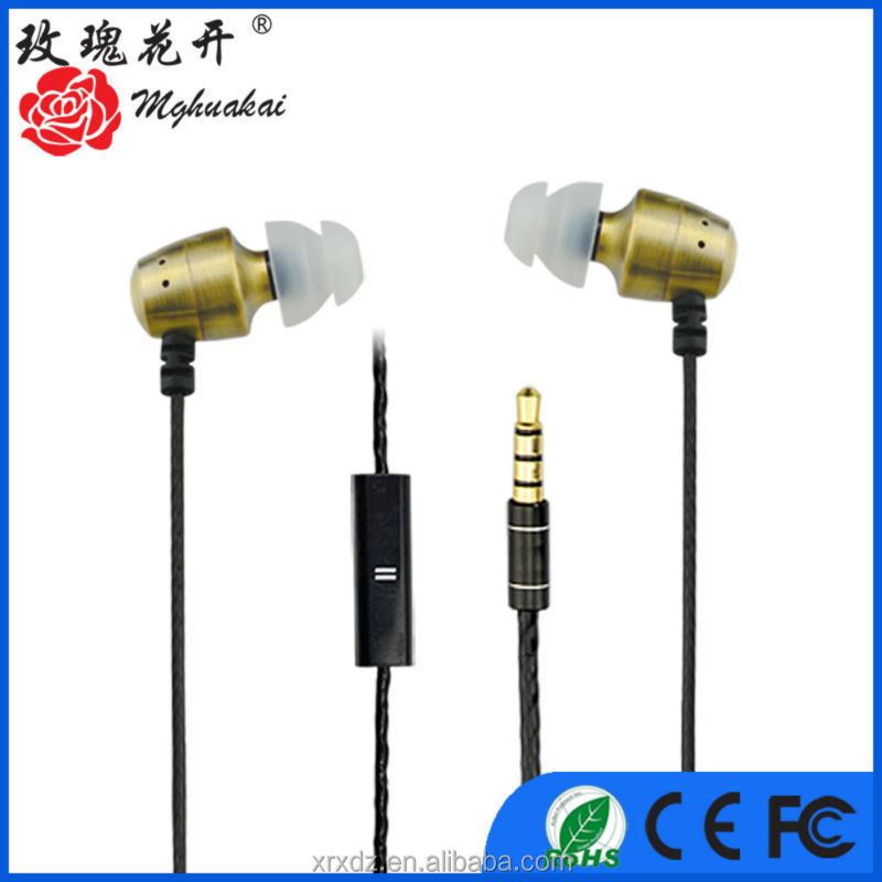 cooper in ear metal earphones