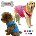 High Quality Summer Pet Dog Cotton Tee Vest Shirt Best Selling Doggy Solid Breathable Sport Vest Clothes Apparel