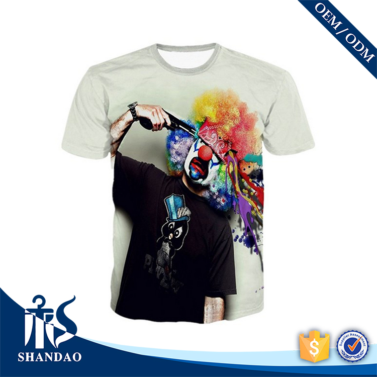 2017 Guangzhou Shandao OEM Custom New Arrival Summer Men 160g 100% Polyester Wholesale T Shirts Clothing Screen Printing