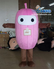 Pink pumpkin mascot costume for adult