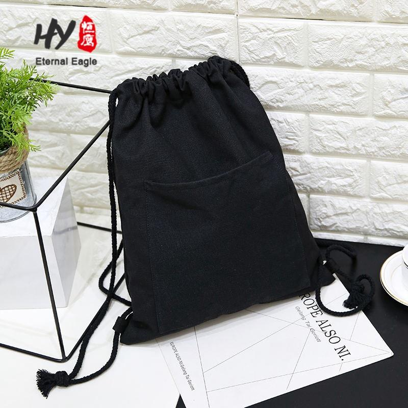 Promotional eco-friendly light weight foldable canvas backpack bags
