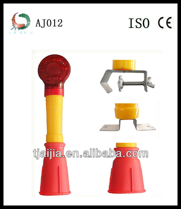 rotary portable LED traffic cone warning light on sale