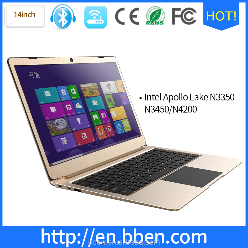 Cheap laptop computer manufacturering companies 14 inch 1920*1080 Intel celeron Apollo lake N4200 6gb ram laptop computers
