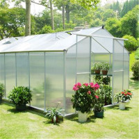 2015 New Style Aluminum small and easy installation Garden Greenhouse for sale