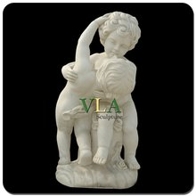 Cute Children Sculpture with A Lively Dog VCS-013
