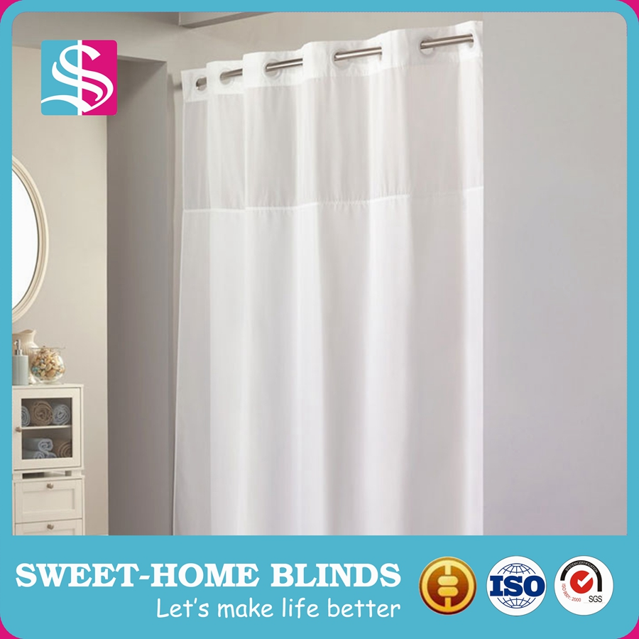 Hotel Shower Curtain With Snap In Liner