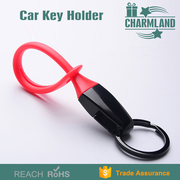 Rubber plastic keychain silicon key chain