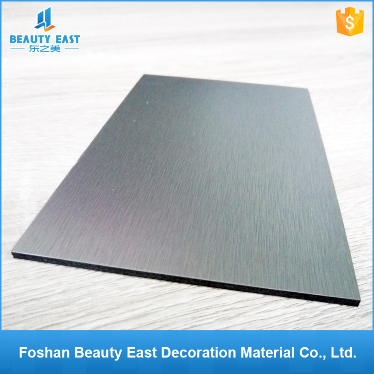 Guangdong building materials manufacuturer 4mm PVDF brused dibond for exterior wall decoration