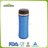 370ml double wall 18/8 stainless steel tumbler Korean vacuum lady bottles with tea strainer leakproof lid and steel ring