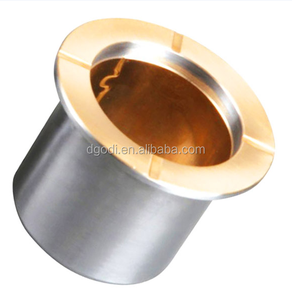 customized flanged brass bimetal bushing with TS16949 certificate