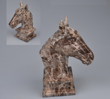 Resin Material Marbel Decorative Horse Animal Head Sculpture