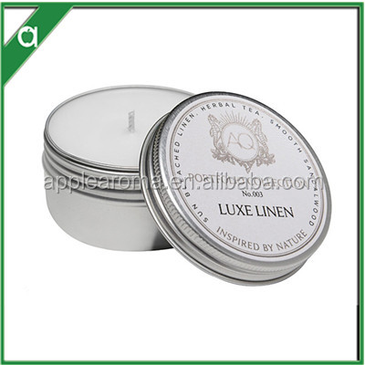 Classic home decorative small size scented candle with tin can
