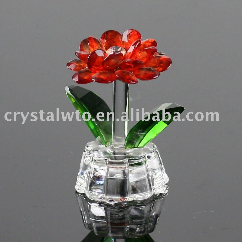 handcraft crystal flower