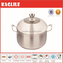 New design 3 ply heat induction stainless steel casserole pot with customized lid
