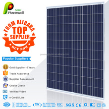 Powerwell Solar With TUV,CE,SGS,CEC,IEC,ISO,OHSAS,CHUBB Standard 250 Watt Solar Energy Panel ,250w Solar Power System With Price