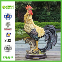 Home Decoration Tabletop Resin Artificial Cock