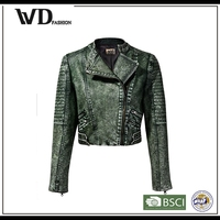 Hot product workwear leather jacket for women