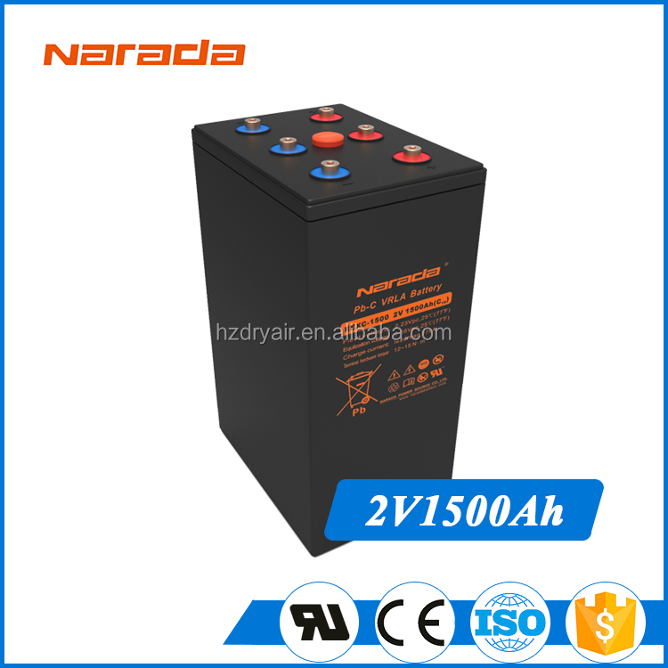 China Famous Narada Lead Carbon Battery 2V1500Ah Deep Cycle REXC-1500