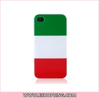 KN136 Italian Flag Back Hard Case Cover for Apple for iphone 4G