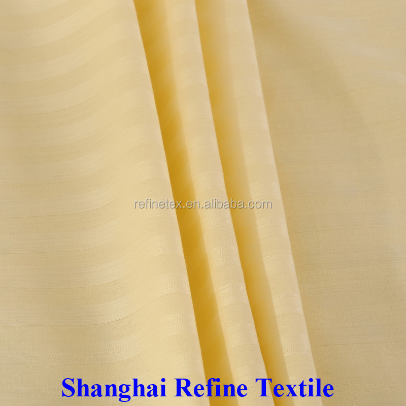 All color stripe cotton fabric for bed sheeting