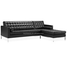 Knoll Modern Leahter Latest Corner Sofa Design