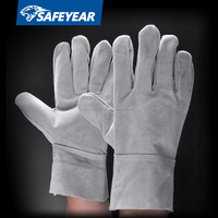 Chrome leather gloves, cow grain leather driver glove ce, cow grain leather working glove