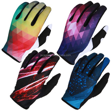 2016 new style full finger sublimation custom made cycling gloves