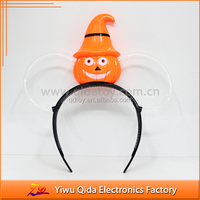 plastic hair band halloween light up pumpkin headband led headband