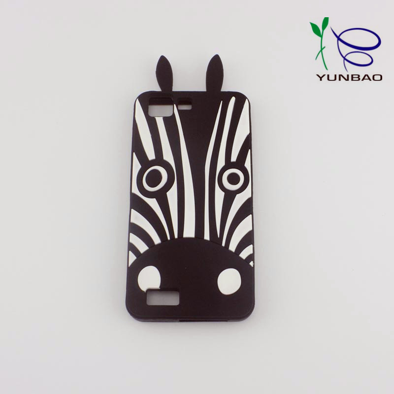 2017 custom latest design cute animal shape Zebra silicon cell phone cover