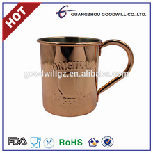 Fast delivery stainless steel coffee beer mug copper plated cup