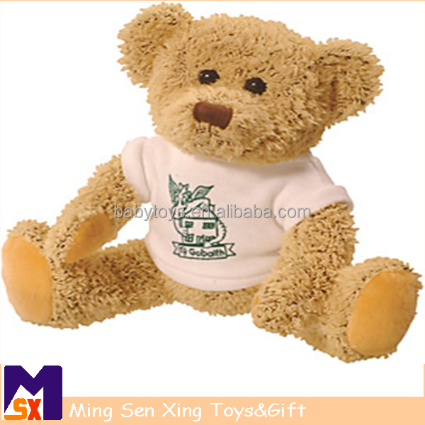 Promotional gifts cute bear plush stuffed toys with t-shirt