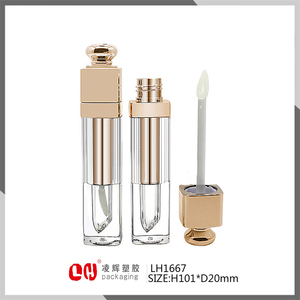 Latest product Lip Gloss Injection bottle Tube Cosmetic Makeup Plastic Packaging shantou