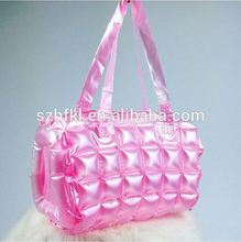 pink inflatable tote bag clear pvc bubble bag