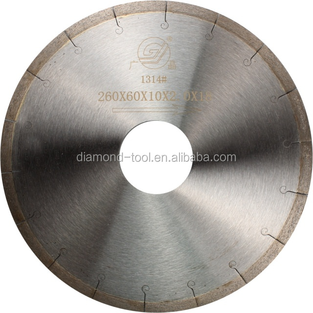 Sharp and Lond Cutting Life Circular Saw Blade With Hook Teeth Slot Ceramic Blades