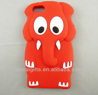 Cartoon elephant cute animal silicone mobile phone case for Iphone 5