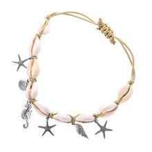 Hot Sale Natural Shell Weave Anklet For Women Beach Jewelry
