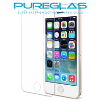 Youtube Tempered glass screen protector for apple iPhone SE 5 5c 5s accessories , Pureglas brand premium glass screen protector