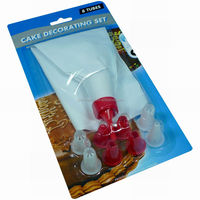 Jk15900F IIcing Bag 9 Designer Plastic Cake Decorating Tips