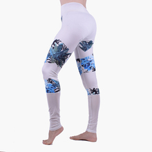 Black and white newspaper pattern women sexy tight leggings