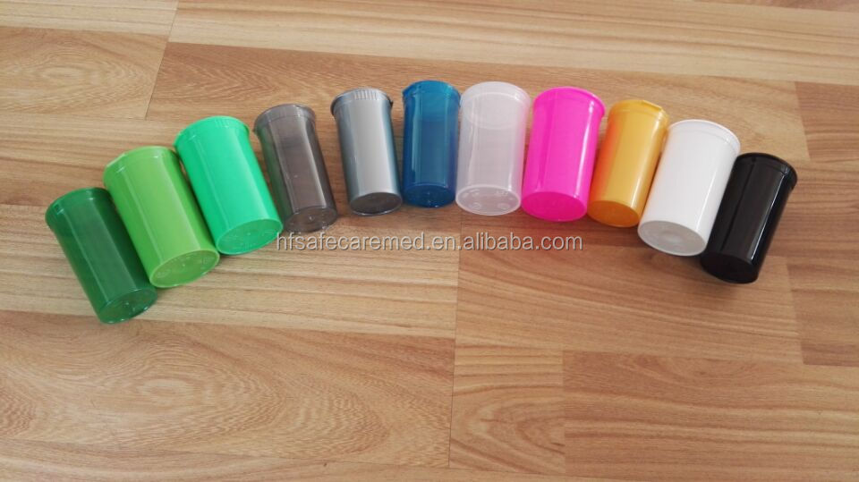 Pop Top Bottle Vial Medical RX Herb Pill Stash Box Containers