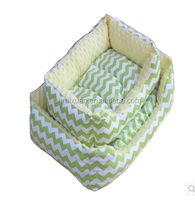 Wholesale manufacturer of high quality pet cat litter dog kennel Super rich colorful stripe square dog sofa