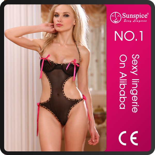 Hot Sale Mature Women Transparent embroidered Sexy teddy Lingerie