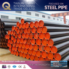 ASTM A53/A106 grade b schedule 40 carbon steel seamless pipe with BE plastic caps