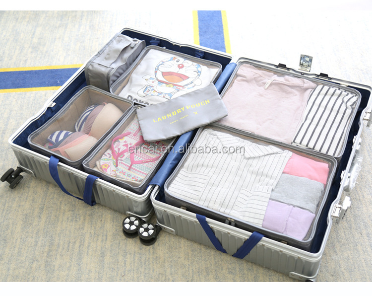 Encai Travel Clothes Packing Cube Bags 7 in 1 Luggage Organizer Bag Set