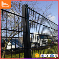 Best quality tubular steel fence twin bar fencing